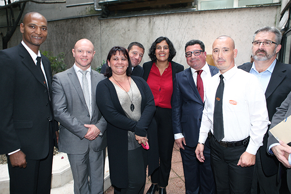 Visite du ministre du travail chez Answer Sécurité le 21 septembre 2015